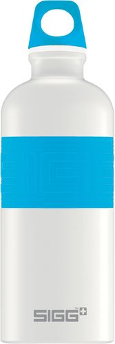 SIGG CYD 0,6 Pure white touch blue juomapullo