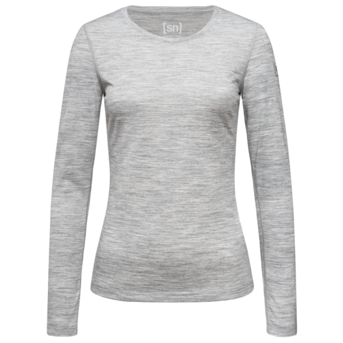 super.natural W Base Crew Neck 230 naisten merinovillapaita harmaa