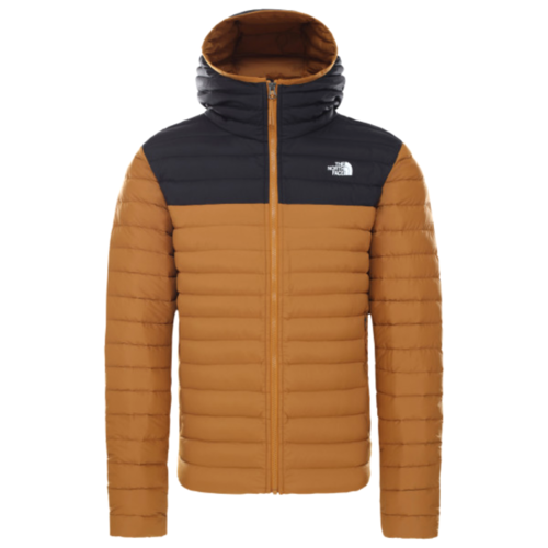 The North Face Stretch Down Hoodie miesten untuvatakki timber tan