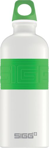 SIGG CYD 0,6 Pure white touch green juomapullo