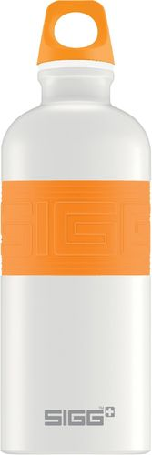SIGG CYD 0,6 Pure white touch orange juomapullo